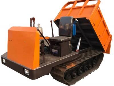 履带式工程运输车小型履带运输车农用价格橡胶履带自卸式翻斗车