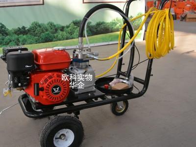 5.5马力道路划线机 手推式热熔划线机