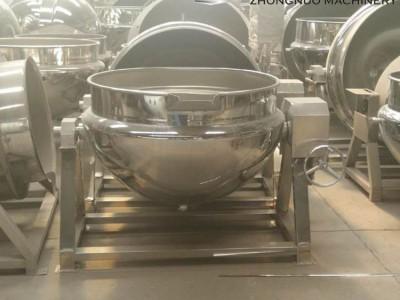 食堂熬汤夹层锅,蒸汽式夹层锅