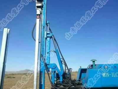 多功能履带式液压打压桩机 履带式液压锤压桩机 护栏工程压桩