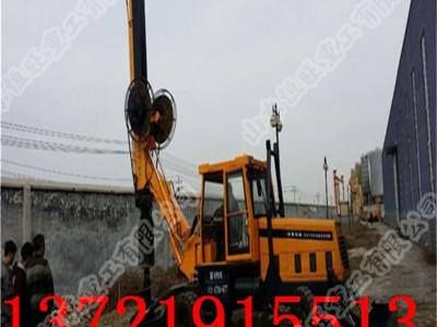 小型旋挖钻机 轮式旋挖钻机 大孔径旋挖钻机可打15米深度