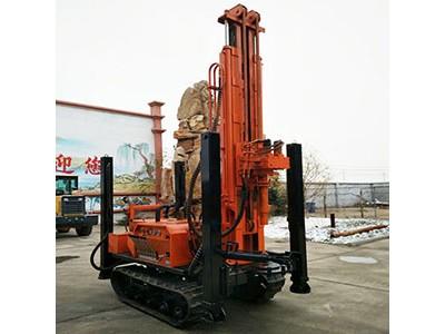 高支腿履带气动钻机 260米气动水井钻机 气动打井机