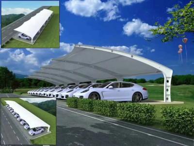 洪湖电动车快捷充电站 洪湖汽车充电桩遮阳棚膜结构