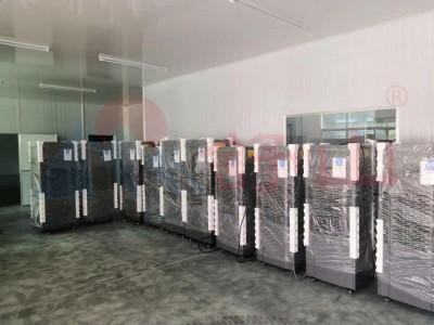 舒山地下車庫三維立體回風抽濕專用工業除濕機溫濕度顯示