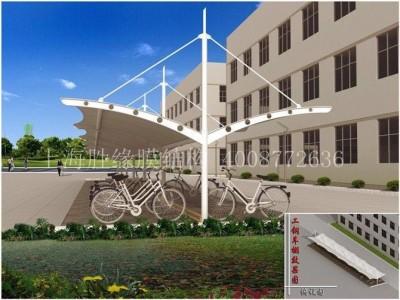黄冈小区集中充电区域停车棚 黄冈膜结构遮阳棚工程