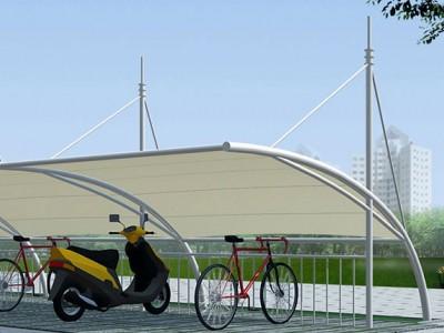 鄂州电动车遮阳棚索膜结构 鄂州公交站充电桩膜结构