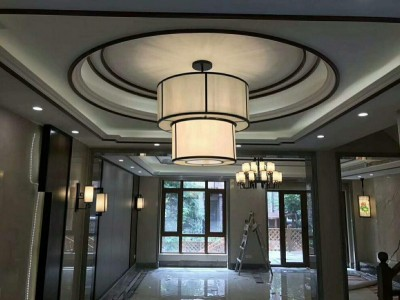 全铜新中式吊灯定做 新中式吊灯 客厅灯具