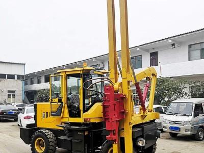 浙江桩工机械现货定制护栏打桩机 波形护栏打桩机