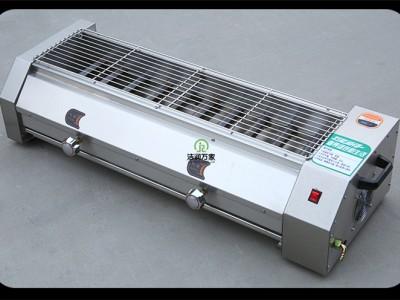 广东东莞服务周到1.8米燃气烧烤炉 黑金烤肉串面筋炉