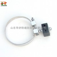 杆用绝缘引下线夹可调节式钢带引下夹具杆用光缆金具