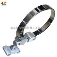 国标杆用引下线夹 光缆引下夹具钢带式杆用光缆金具
