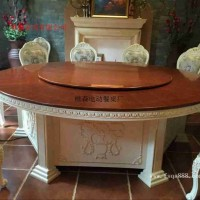 新型電動轉盤餐桌 大型電動餐桌 實木電動桌 雕花電動餐桌供應