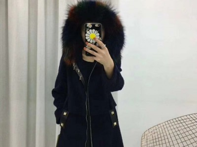 高端好货欧莎玛卡羊驼毛羊剪绒品牌折扣女装批发低价跑量