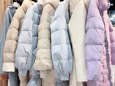 【米拉】19年冬季新款女式羽绒服 品牌折扣女装批发走份