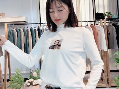 【依蕾】19年秋冬女士打底衫 品牌折扣女装货源批发