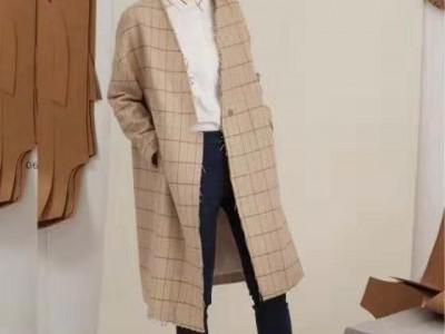 杭州折扣女装批发市场 大衣 风衣 秋冬时尚女装货源供应