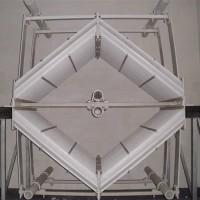 30000风量喷淋塔直径屋脊式除雾器万润环保除雾器