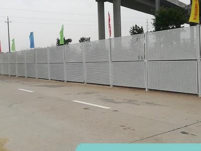 施工建筑抗风护栏 沿海工地金属冲孔板围挡 结实耐用品质保证