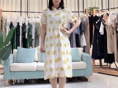 名歌2020年新欧美女装宽松甜美连衣裙品牌折扣女装
