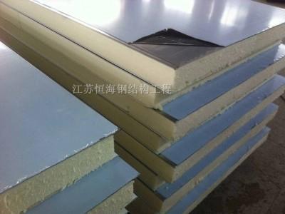 聚氨酯岩棉夹芯板隐钉式横铺板恒海生产