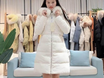 奢华大毛领羽绒服女韩版东大门品牌折扣女装货源批发