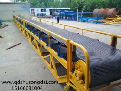 大型工厂卸货输送机 固定支架大倾角输送机设备