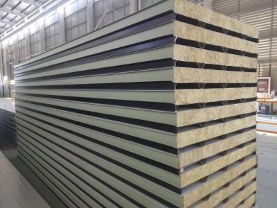 厂家定做聚氨酯封边岩棉夹芯板600型号
