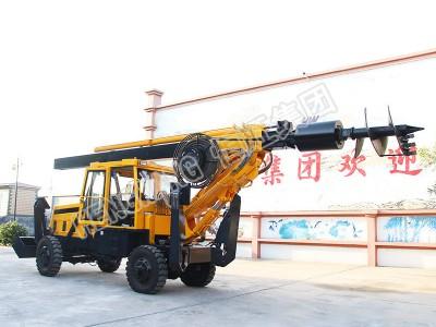厂家供应轮式旋挖钻机 小型地基打桩机