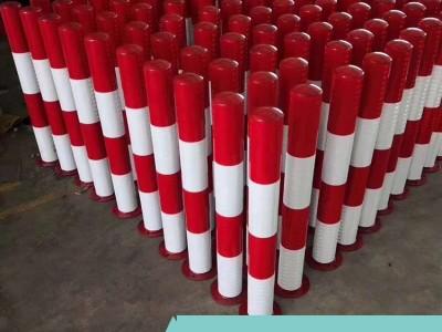 厂家订制钢管警示柱 交通设施60公分高分道桩隔离墩