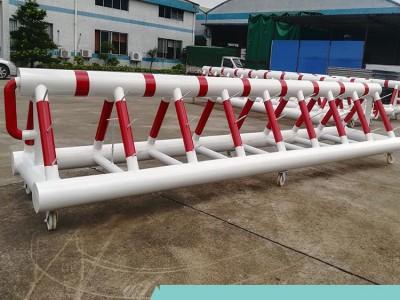 三角架重型拒马护栏 89钢管带刺防冲撞路障