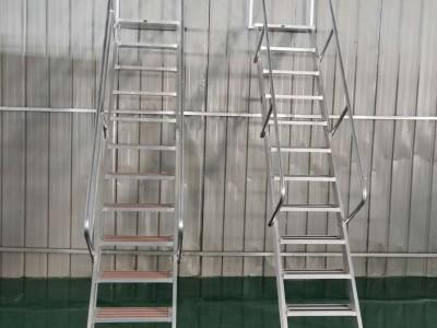 定制铝合金阁楼梯安全爬梯挂梯室外楼梯工程梯