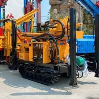 履带气动水井钻机履带岩石钻机 空压机气动水井钻机