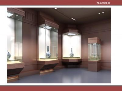 古董展柜透明文物展览展台定制博物馆展示柜