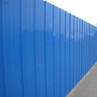 单层平面彩钢板围挡 房地产外围蔽5米高广告墙