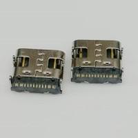 板上型USB TYPE-C母座 90度四脚插板 单排贴板