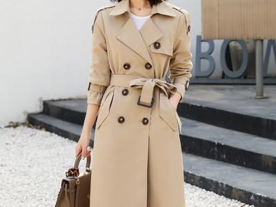 秋季外套 女式风衣 品牌折扣女装 库存服装尾货批发