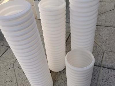 厂家直销HDPE材质双壁波纹管穿线管 纯白色波纹管