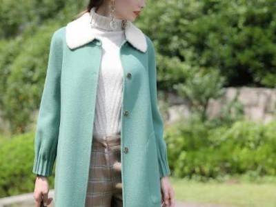 冬季时尚女式外套 水芙蓉双面羊绒大衣 品牌女装尾货批发