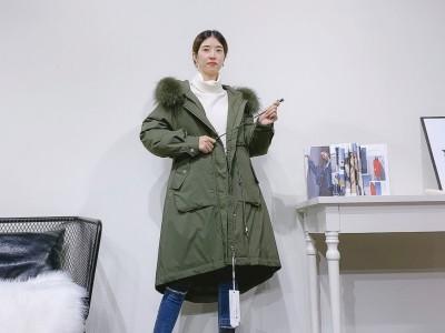 广州折扣女装进货 冬季防寒服 女式羽绒服走份批发