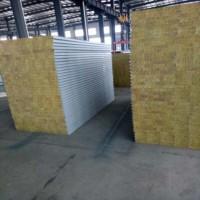 南通A级防火彩钢岩棉夹芯板 净化车间隔墙板 隔热保温