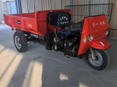 工程自卸三轮车 加重车架柴油三马子 电启动的三轮车