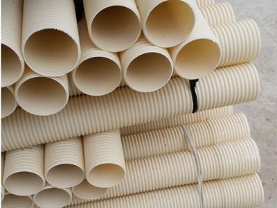 PVC双壁波纹管 米白色波纹管 DN110/160电缆保护管