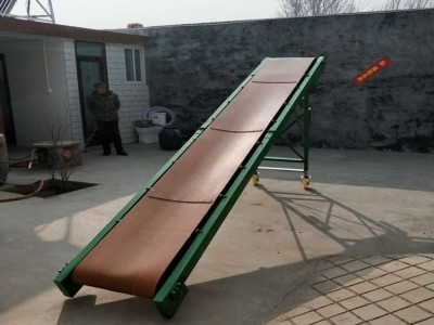 折叠式轻型皮带输送机4米长折叠皮带机 下乡收粮传送带