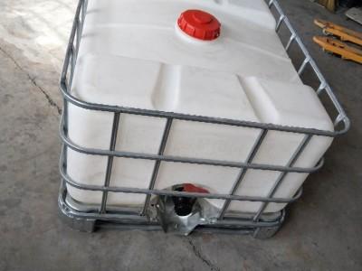 1000L方形化工桶带铁架耐酸碱1000L方形吨桶