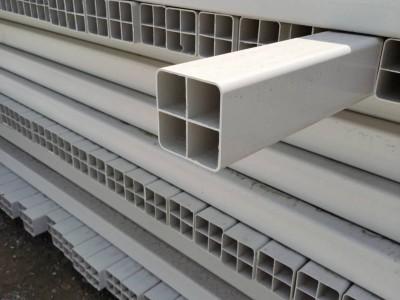 河北厂家批发PVC格栅管 四孔格栅管 多孔通信方管
