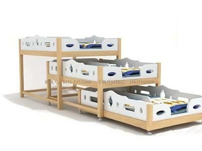 儿童三层抽屉床