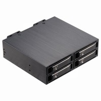 2.5寸4盘位SATA/SAS转5.25寸光驱内置硬盘抽取盒