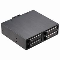 2.5寸4盘位SATA转5.25寸光驱位内置硬盘抽取盒 带锁