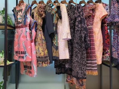 上海高级成衣女装品牌瑟俪尾货库存折扣批发货源供应
