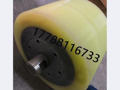 海瑞克装备管片小车聚氨酯包胶轮300*200现货